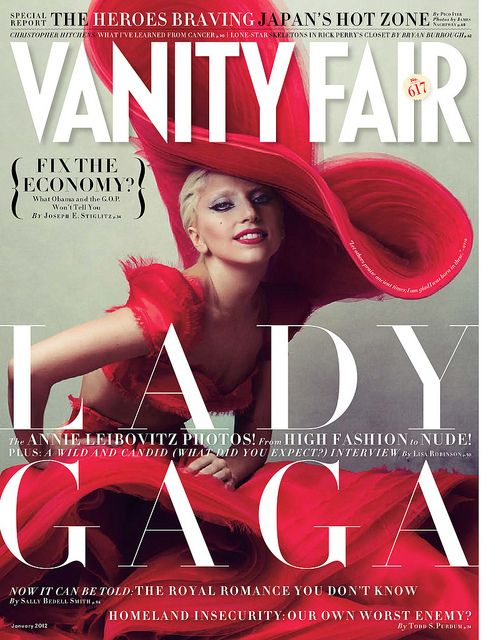 American Society of Magazine Editors - best magazine cover contest - Vanity Fair - January 2012