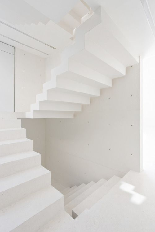 found by hedviggen ⚓️ on pinterest   locations   white   stairs   stairway   spacious   empty   clean