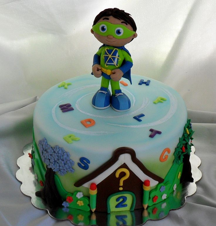 Super Why B-Day Cake