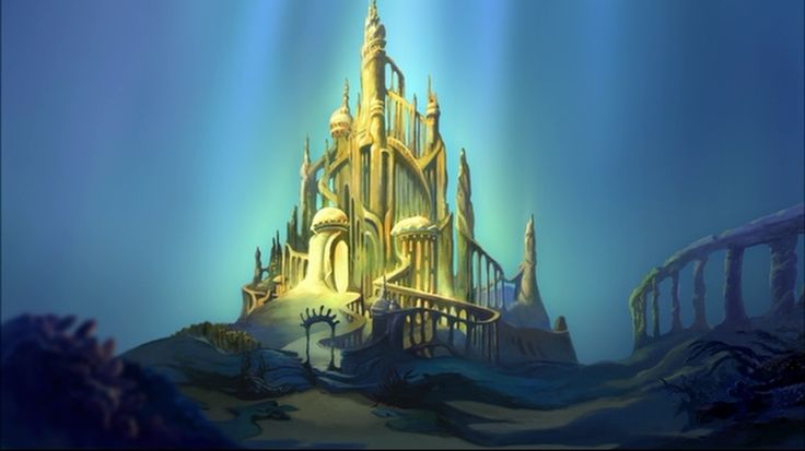 Underwater Mermaid Castle ariels underwater cast...