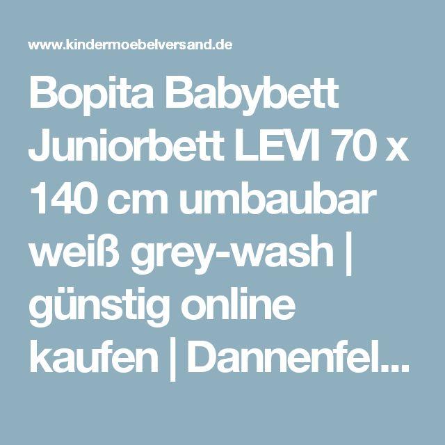 Bopita Babybett Juniorbett LEVI 70 x 140 cm umbaubar weiß grey-wash | günstig online kaufen | Dannenfelser Kindermöbel