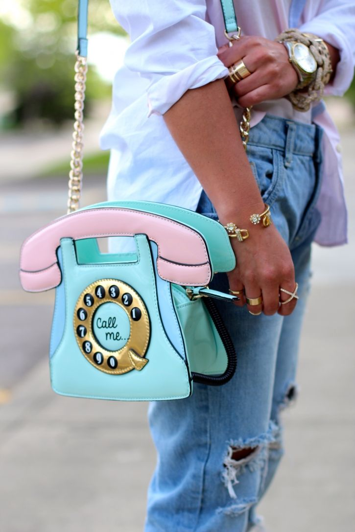 Call Me pastel novelty bag -totally out of the box