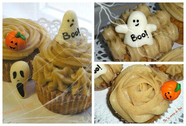 Cupcakes de Calabaza con Buttercream de Canela para Halloween