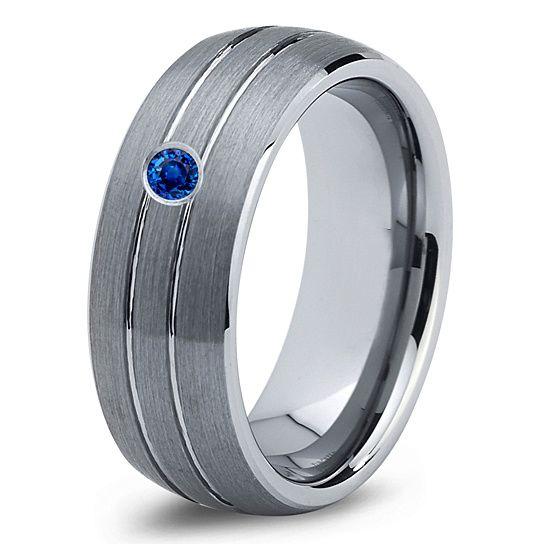 wedding bands blue sapphire band mans mens carbide male diamond ring