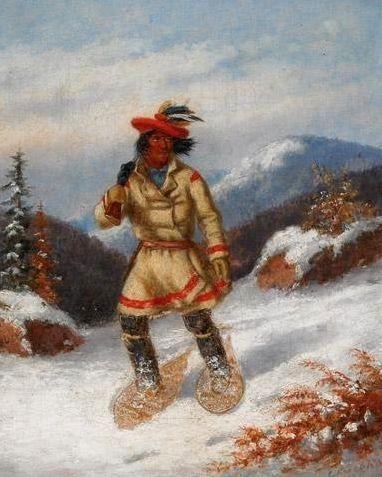 Cacciatore Indiano con Racchette da Neve IV.