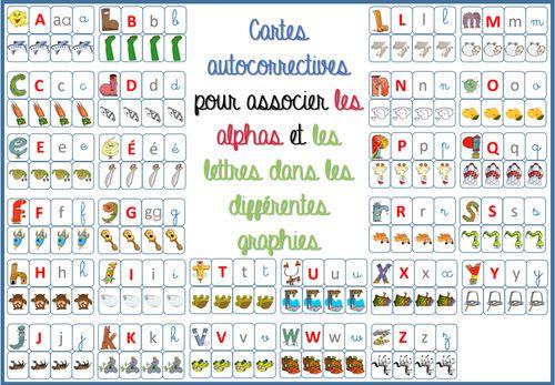 cartes association Alphas / lettres