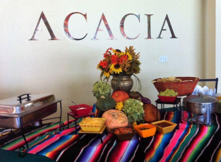 Fajita bar at UT Acacia Fraternity