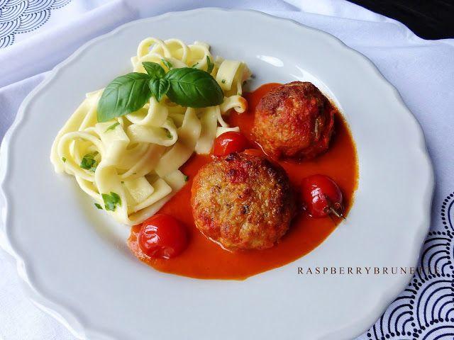 Raspberrybrunette: Jemné mäsové guličky s mozzarellou