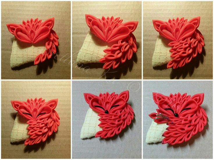 Kanzashi Fox my DIY 4