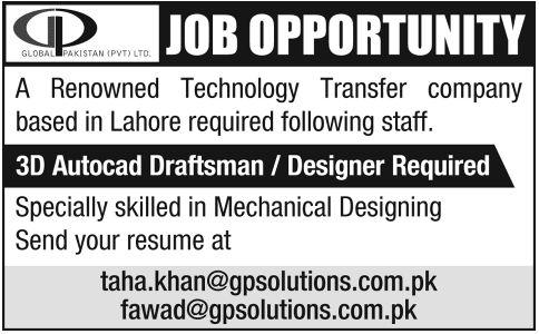 3d jobs in pakistan