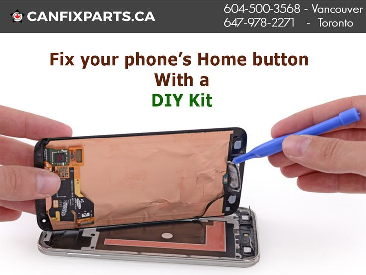 Now you can fix your phone's home button with #DIY kit. Reach us at +1 647-860-2271/ 604-721-8495 or visit http://ow.ly/BF5930enVXm