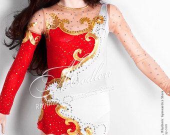 Leotard 152: Rhythmic Gymnastics Leotard Ice Figure by Modlen