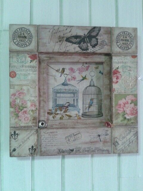 383 best images about wood art and craft on pinterest - Cuadros shabby chic ...