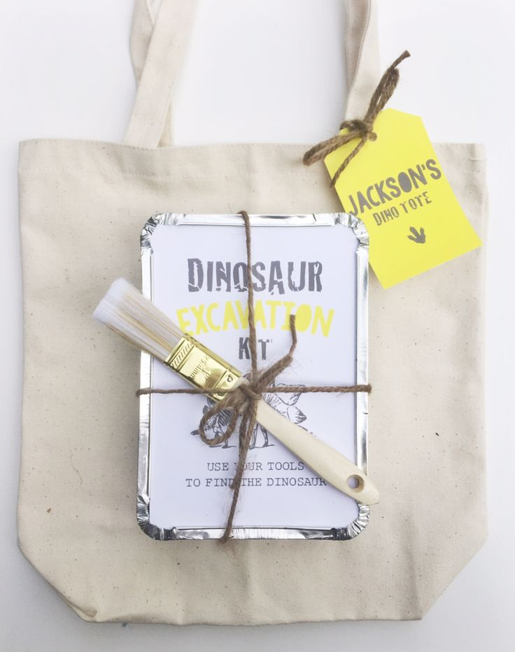 Dinosaur excavation kit birthday party favors