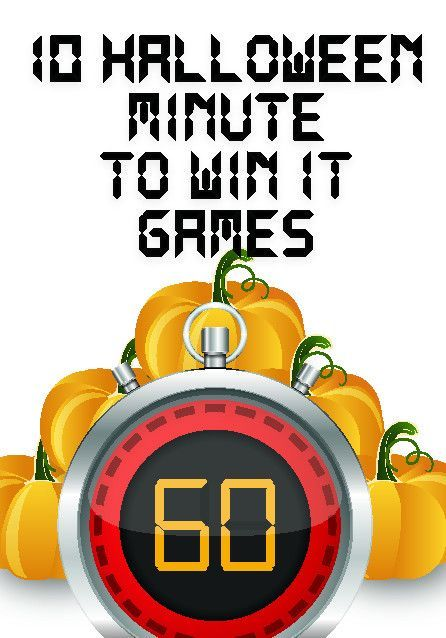 10 Minute To Win It Halloween Games