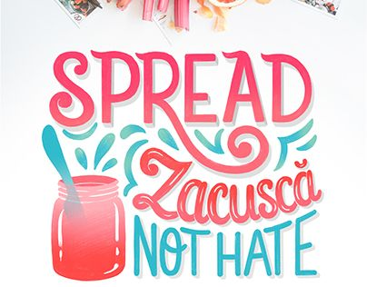 "Check out new work on my @Behance portfolio: ""Spread Zacusca, not hate - Hand lettering design"" http://be.net/gallery/62266229/Spread-Zacusca-not-hate-Hand-lettering-design"