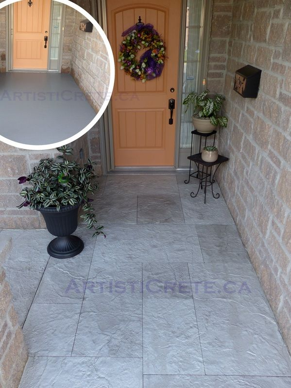 Beautiful Concrete Resurfacing London Ontario   ArtistiCrete.ca