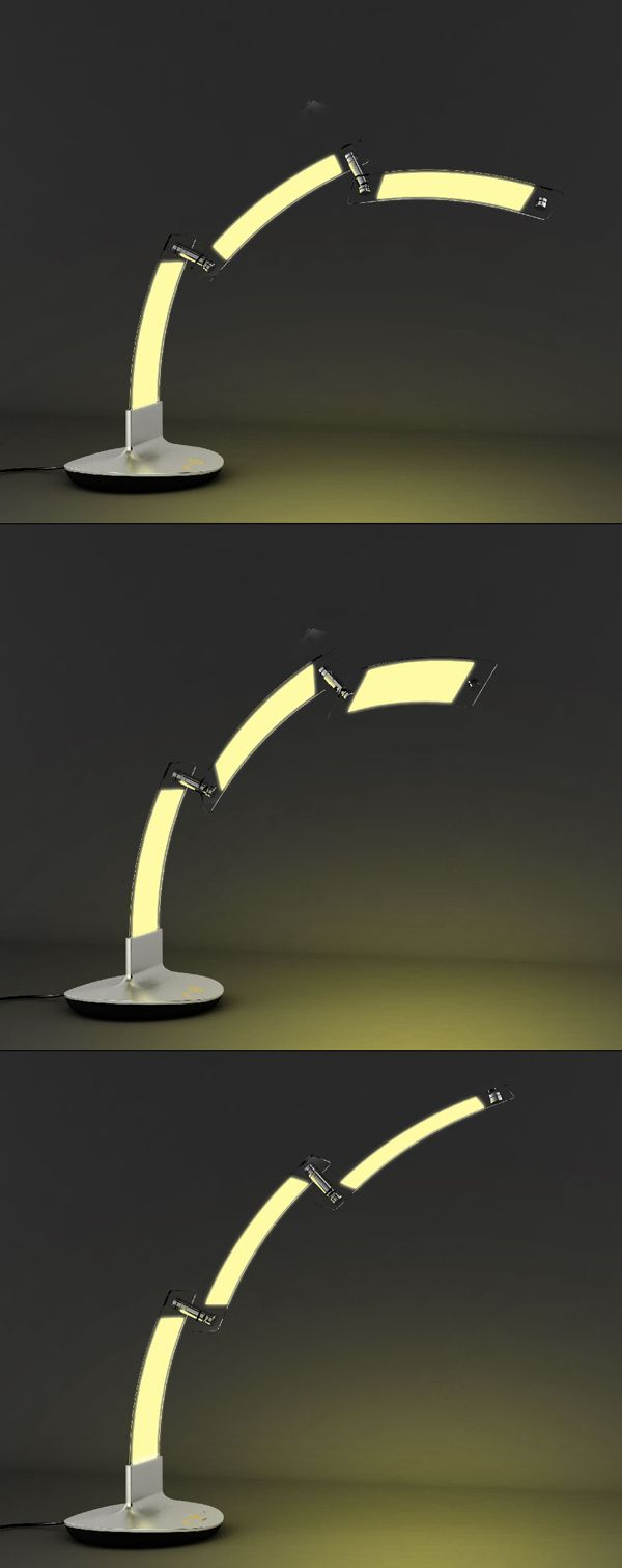 The Simplistic Thunder Lamp Makes Great Use Of Cutting Edge OLED Technology  With Its 3 Swiveling, Modular Sections That Provide Fully Flexible  Positioning ...