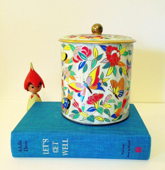 Vintage Butterfly Tin at MelbaMoon on Etsy