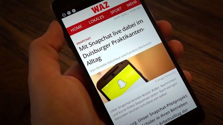 Snaportagen: Snapchat bei der WAZ Duisburg