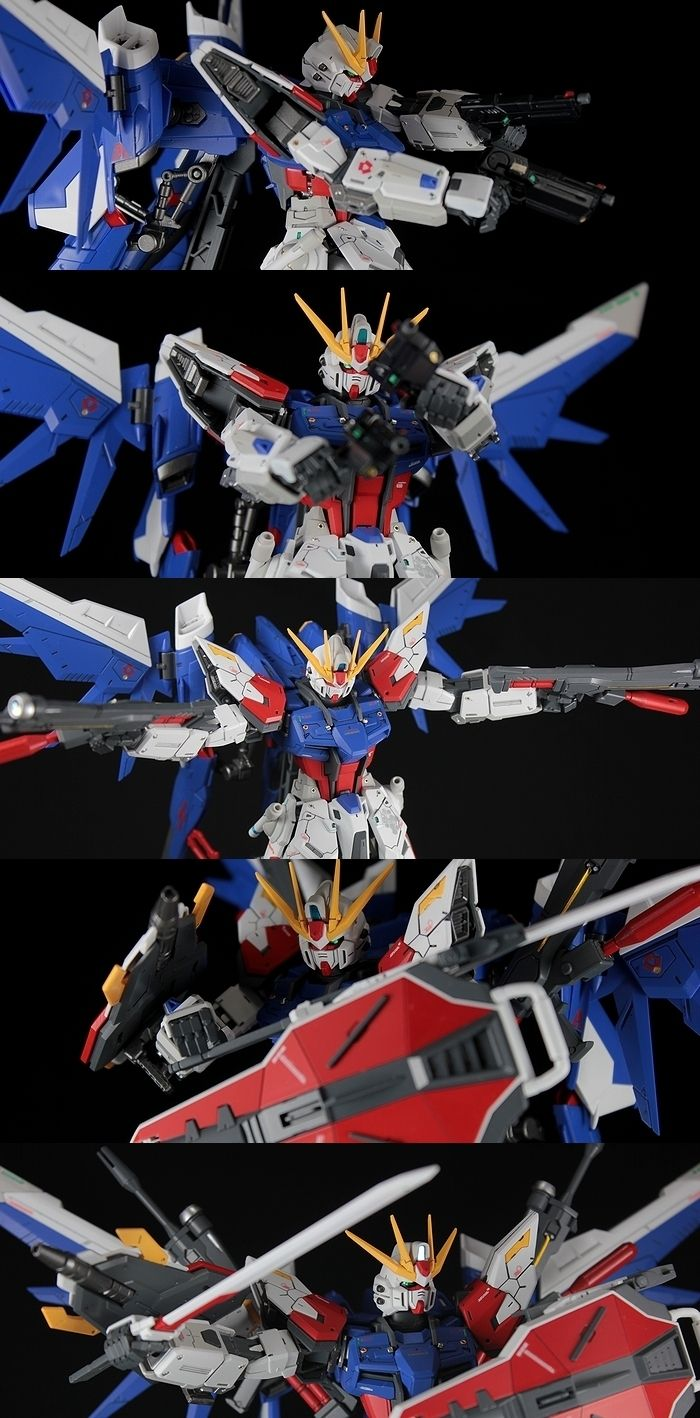 MG 1/100 Build Strike Gundam Full Package: Latest Remodeling Work by Kouichi. Full Photoreview Wallpaper Size Images | GUNJAP
