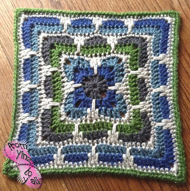 Knitting Patterns For 12 Inch Squares : [Free Pattern] This Larksfoot Inspired 12
