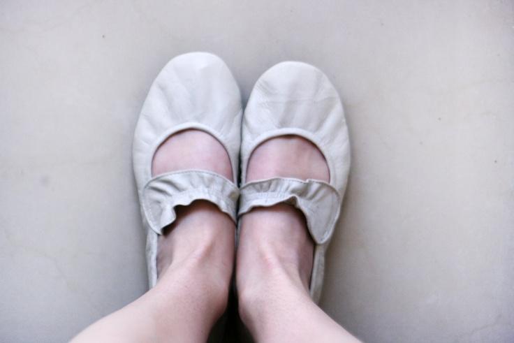 White Walk - Handmade Leather Ballet flats
