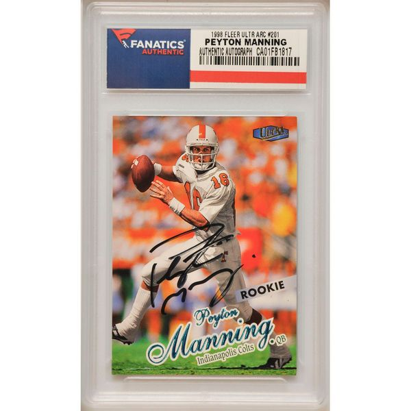 Peyton Manning Indianapolis Colts Fanatics Authentic Autographed 1998 Fleer Ultra Rookie #201 Card - $229.99