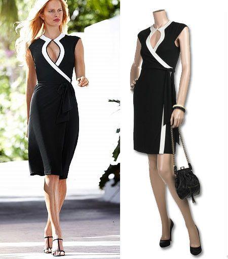 moda wrap dress - vestido envolvente