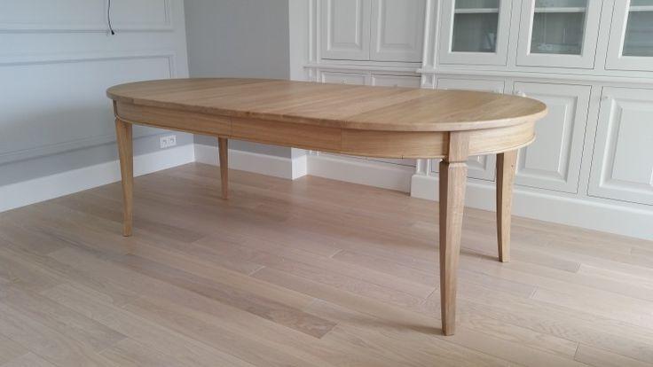 dębowy rozkładany stół