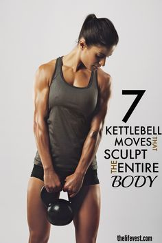 If you want to tone and strengthen your entire body, then try these kettlebell workouts! These whole body movements are guaranteed to get you leaner and in shape faster than any other workout. There's nothing like swinging around a kettlebell to get in shape and this post shows you exactly how!