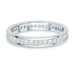 1 ct. tw. Channel Set Princess Cut Diamond Eternity Band in 14K Gold - Diamond Wedding Bands - Wedding Bands - Engagement & Wedding - Helzberg Diamonds