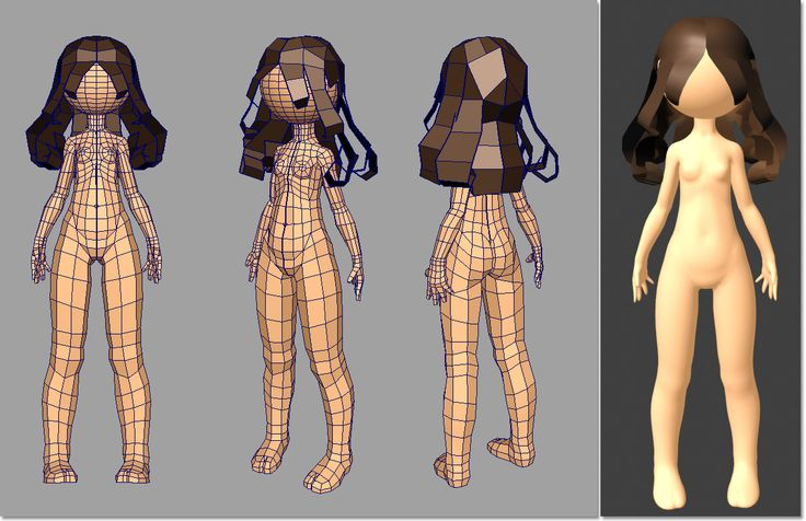 Low poly girl