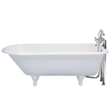 Oxford roll top bath with resin feet