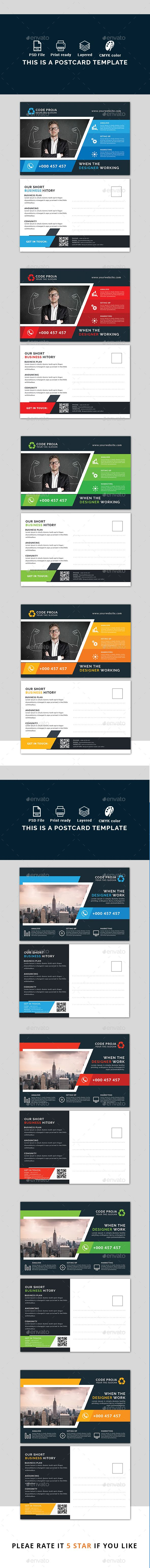 38 best print images on pinterest postcard template design