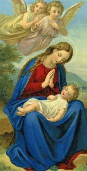 MARÍA, fuerte mujer hebrea, dulce y tierno corazón de madre. Cómo nos gustaría descansar siempre, sobre tu regazo, junto a Jesús