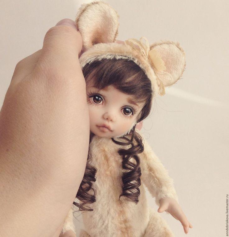Купить Иви. Тедди-долл мышка. - тедди-долл, тедди долл, кукла, авторская кукла