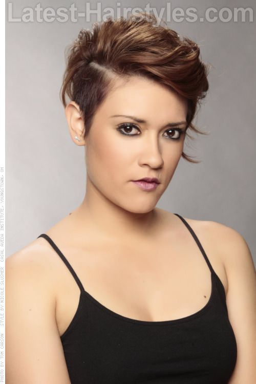 Undercut Cute Look for a Round Face Trendy cuts for round face