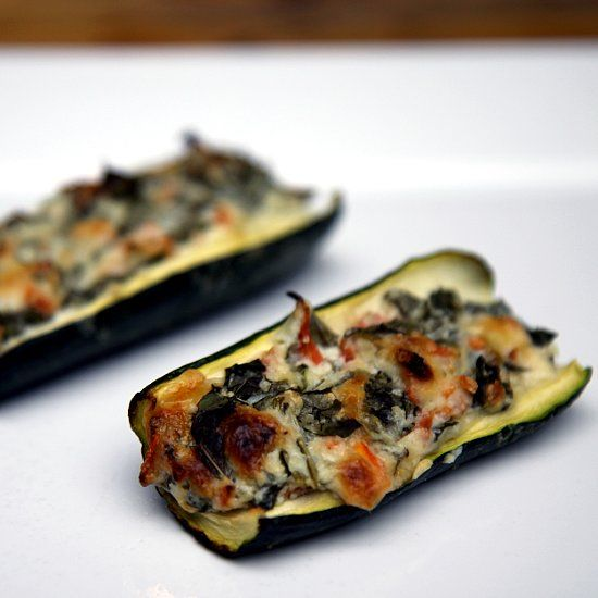 Healthy Recipe: Creamy Zucchini Boats