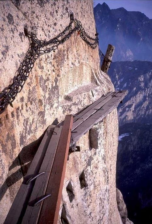 The deadly trail to Mt. Huashan: One Day, Hiking Trail, Oneday, Buckets Lists, Paths, Huashan, Places, Teas Houses, China