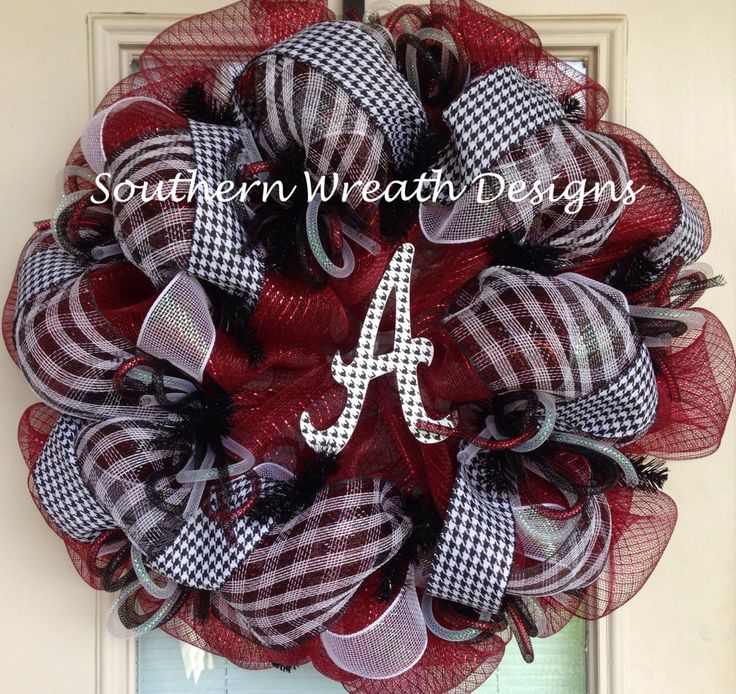 Alabama College Sports Mesh Deco Wreath by SouthernWreathDesign, $80.00