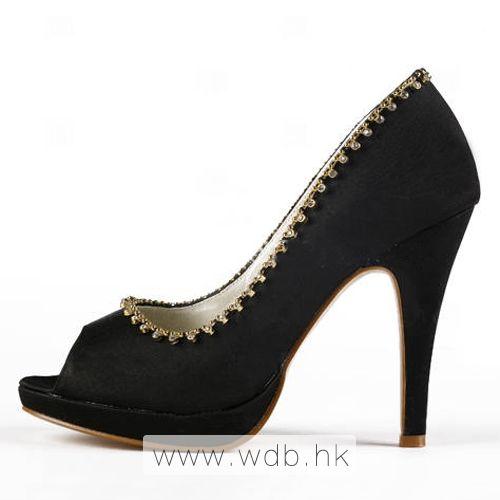 """Fancy 4.5"""" Rhinestones Chain Peep-toe Pumps - Party shoes (11 colors) $65.98"""