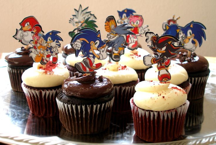 Sonic The Hedgehog Birthday Party Cupcake Cake by KidsLoveEm, $15.99