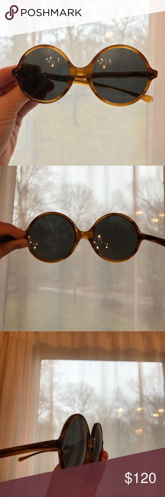 1960s Vintage American Optical sunglasses AO vintage Sunswept true color CN 128 T  Glass lenses in very good condition-no scratches.  Tortoise coloring-round shape American Optical Accessories Sunglasses