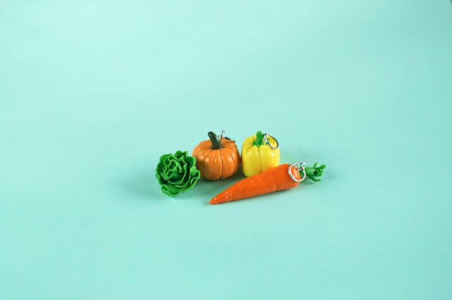 vegan pendant polymer clay vegetables