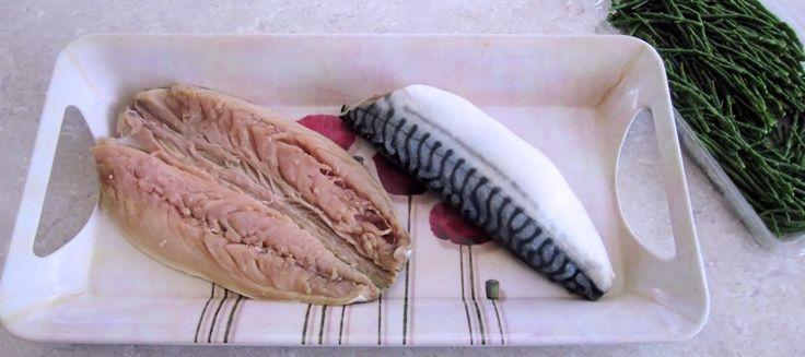 Fresh mackerel and samphire