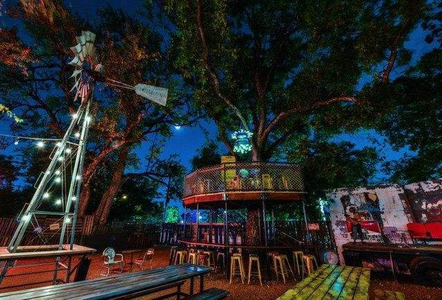 Truck Yard - Hands down the coolest new backyard on Lower Greenville, has a treehouse bar and food trucks nightly