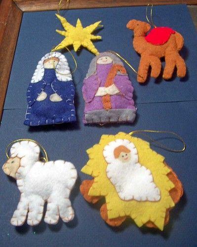 felt nativity ornaments …