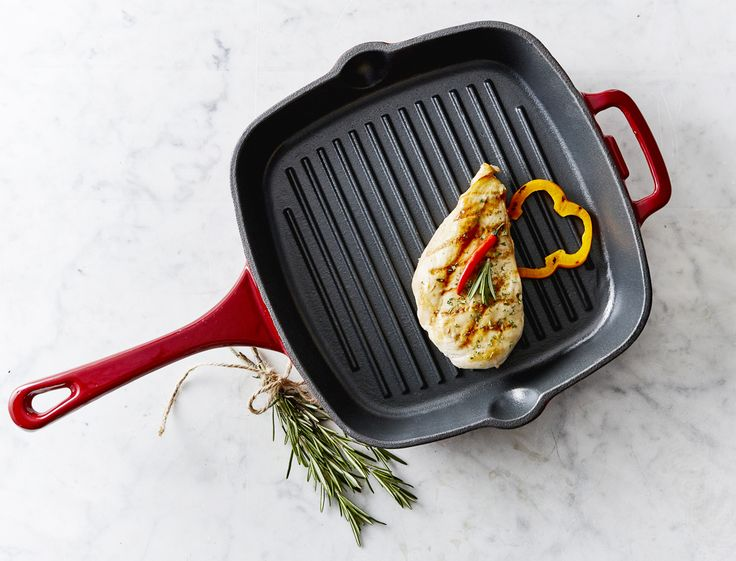 Achieve stove top grilling with amazing results! The even heat distribution and grilling ridges on the Remy Oliver Cast Iron Grill Pan makes it an essential tool for your kitchen.