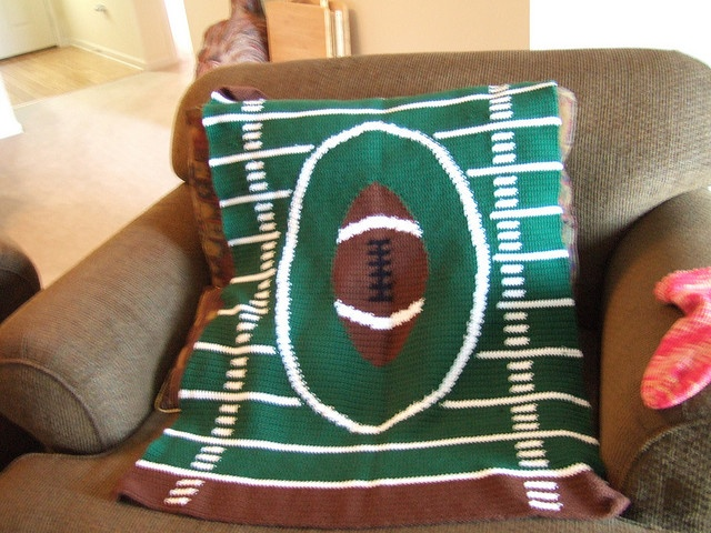 crochet football blanket